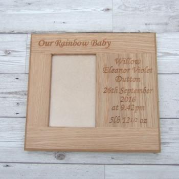 Wide Oak Photo Frames
