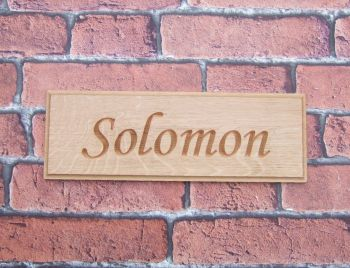Single Row Carved Oak Stable Sign