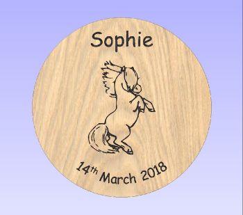Beech Stool - Shetland Pony