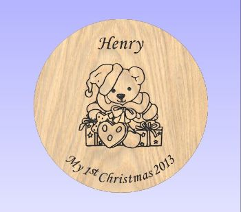 Beech Stool - Christmas Teddy