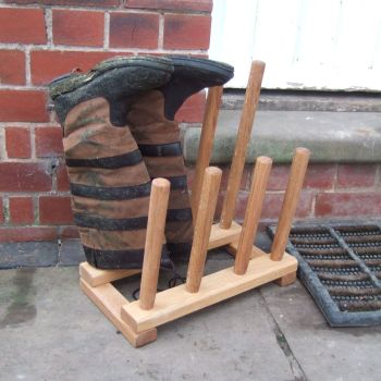 Four Pair Shoe & Boot Rack