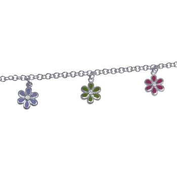 Children's Enamel Flowers Bracelet by JUPP