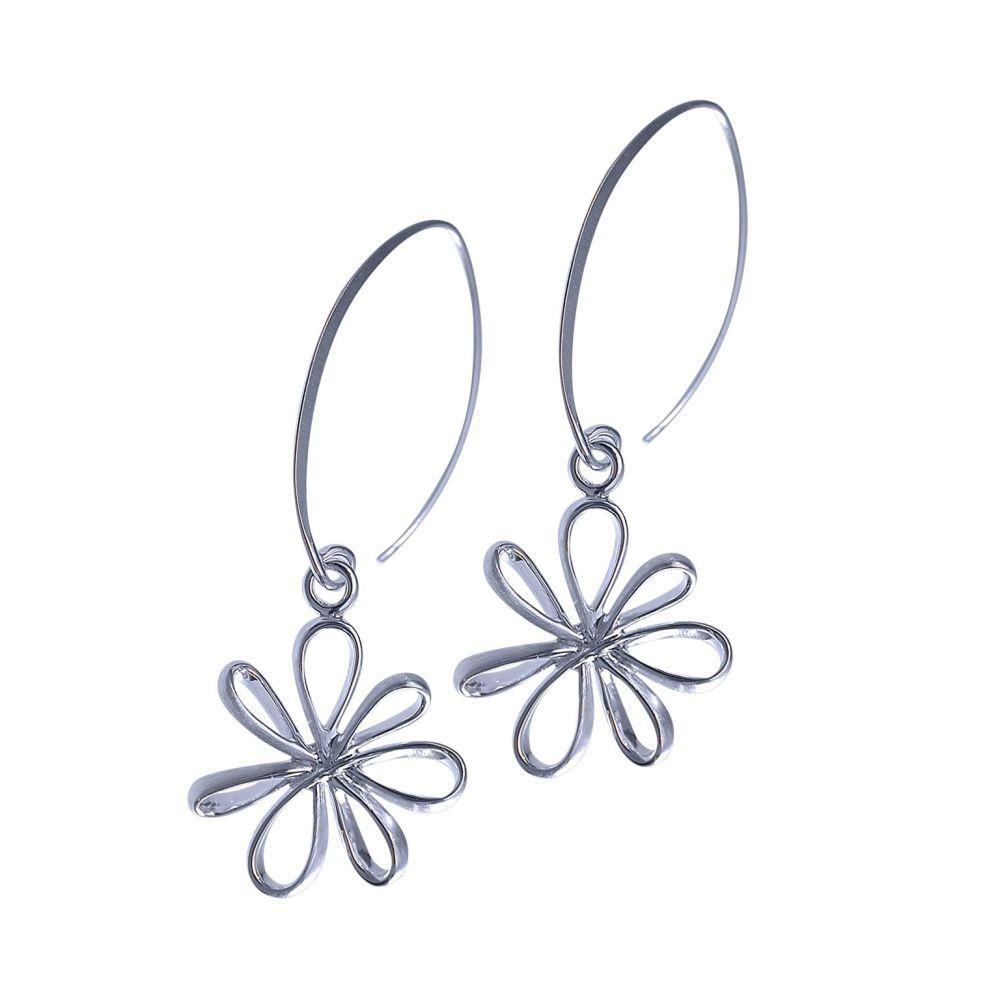 Silver Flutter Earrings by Jupp