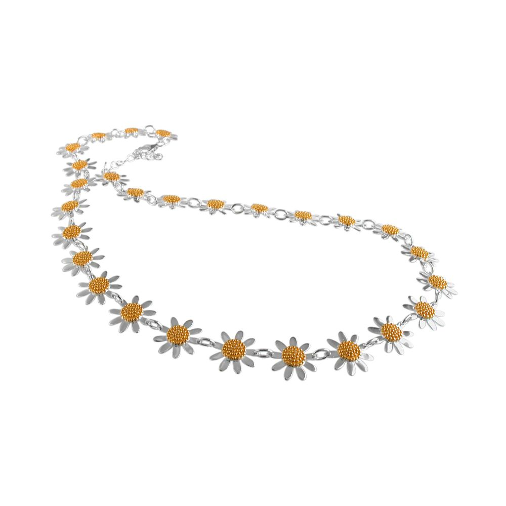 Silver Daisy Chain Necklace by JUPP