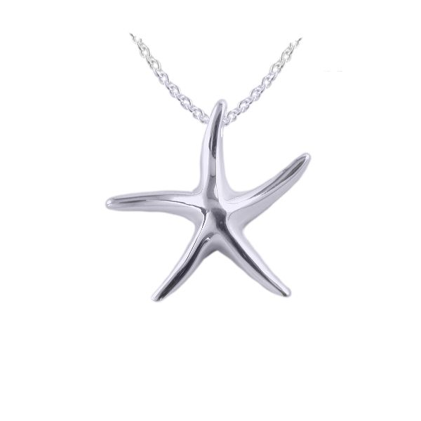 Silver Starfish Pendant and Chain by JUPP