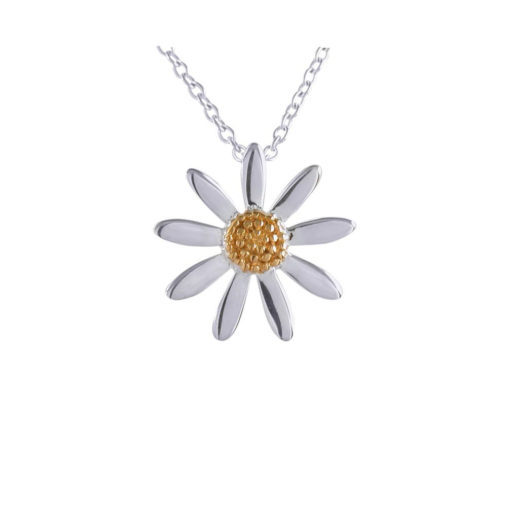 Silver Daisy Pendant by JUPP