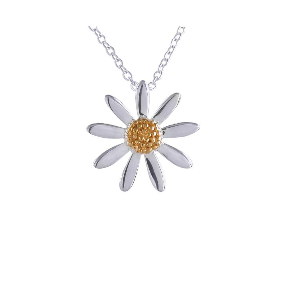 Silver Daisy Pendant by JUPP