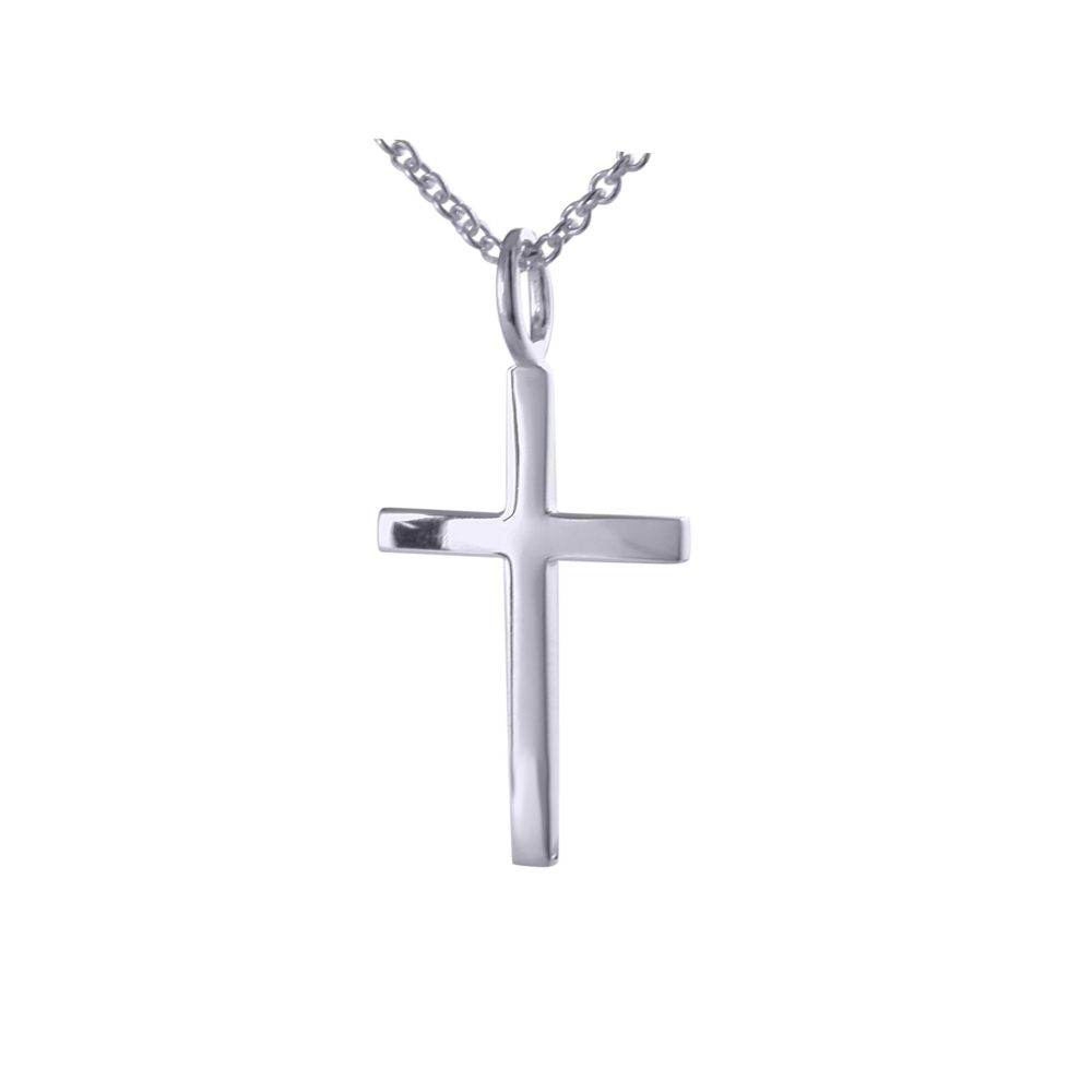 Silver Cross and chain by JUPP