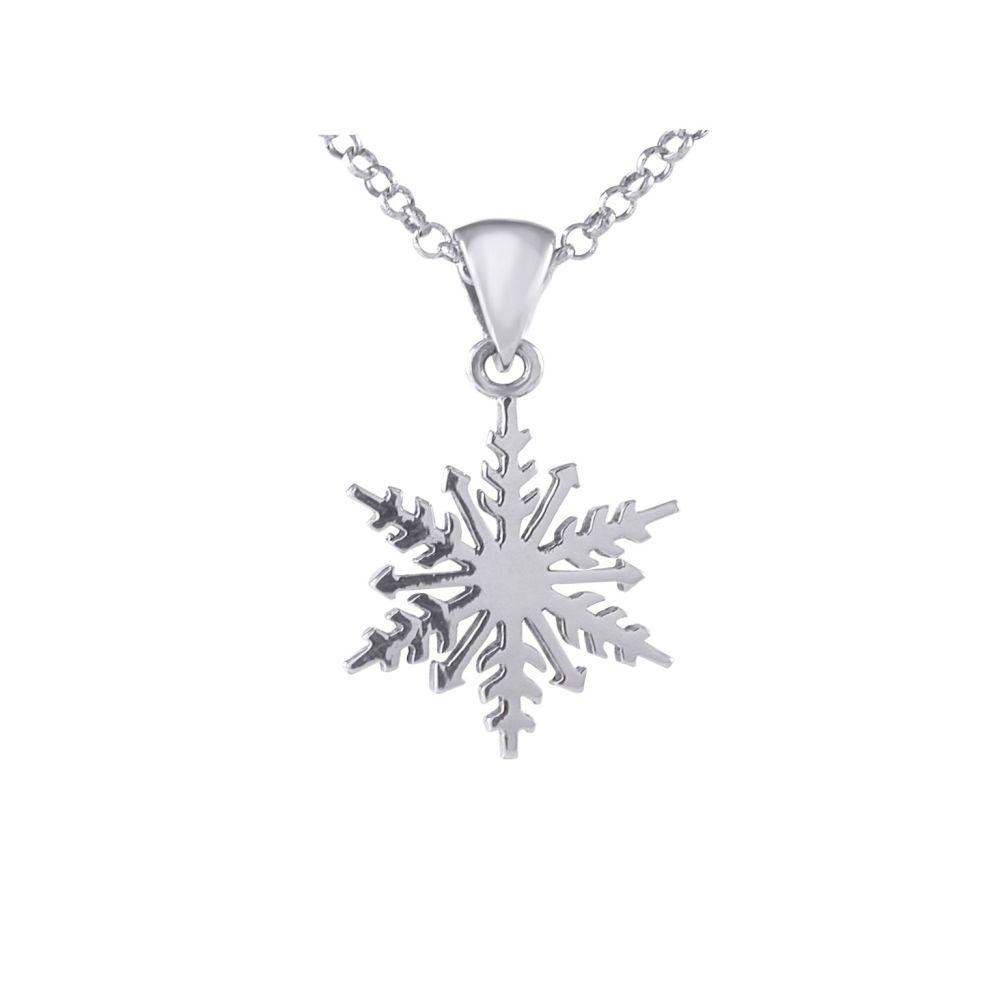 Silver Snowflake Pendant by JUPP