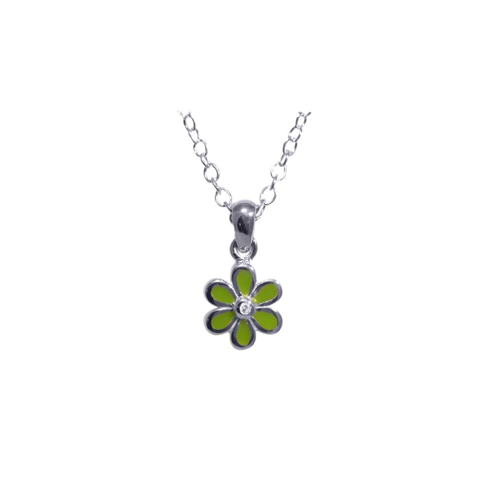 Green  Flower Pendant by JUPP