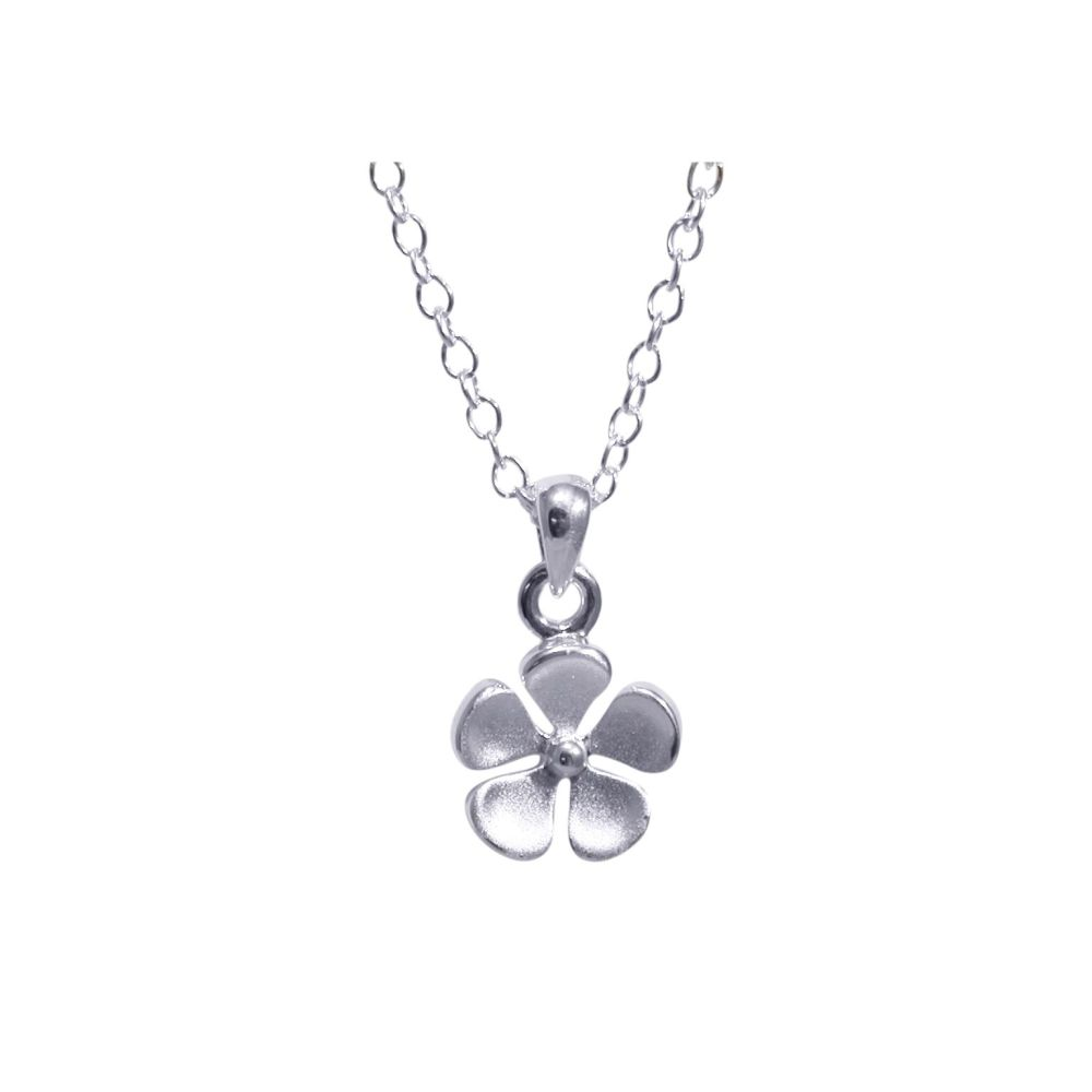 Silver Flower Pendant by JUPP