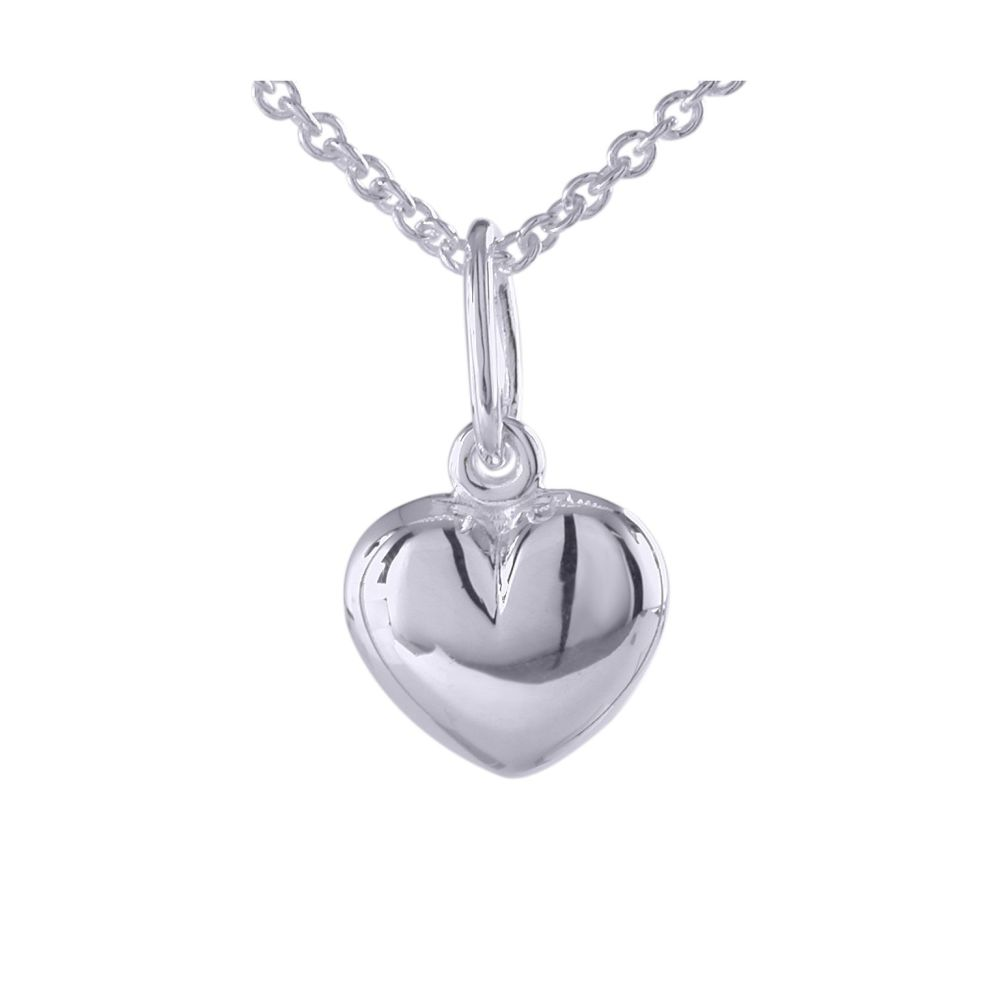 Silver Puffy Heart Pendant by JUPP