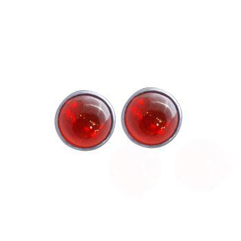 Fire Opal Ear Studs by JUPP