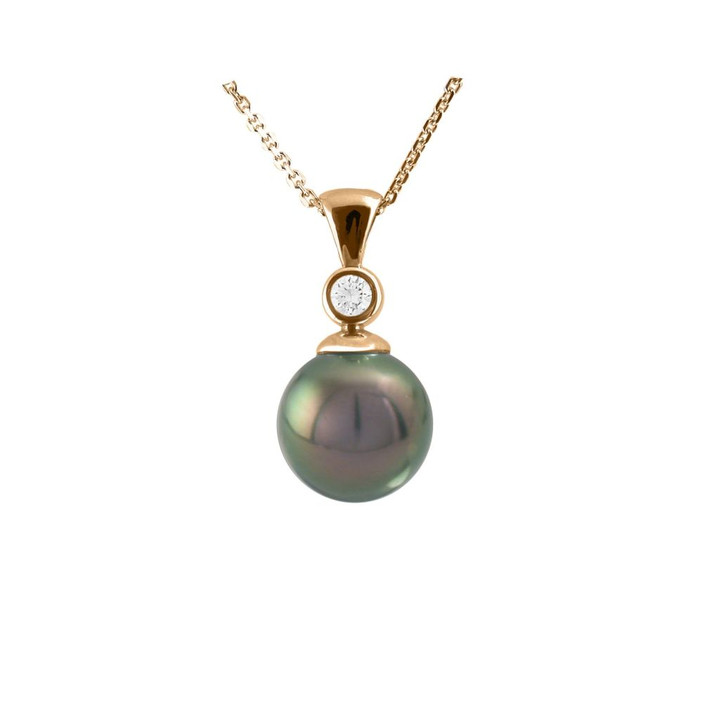Tahitian Pearl & Diamond Pendant by JUPP