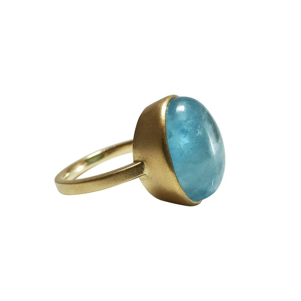 Cabochon Aquamarine Ring by JUPP