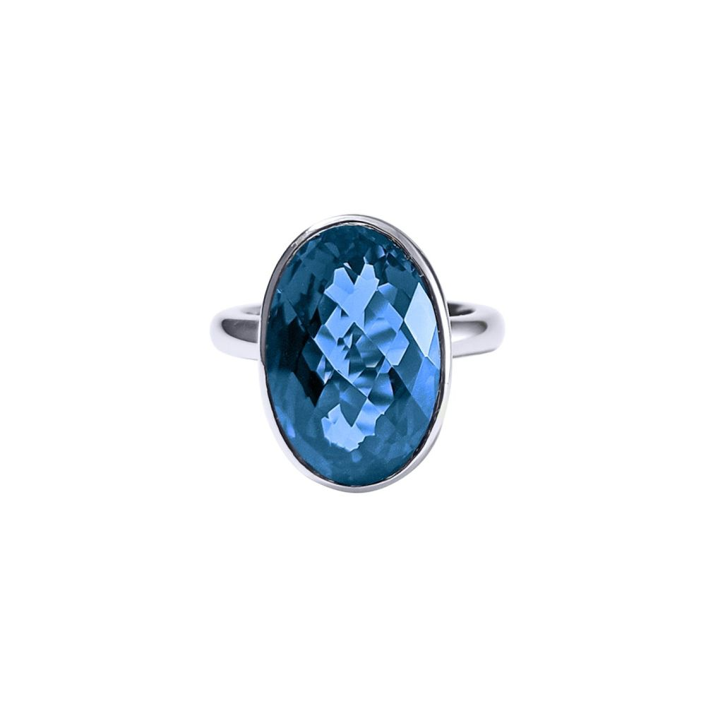 London Blue Topaz Ring by JUPP
