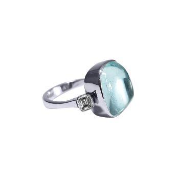 Aquamarine and Diamond Ring by JUPP