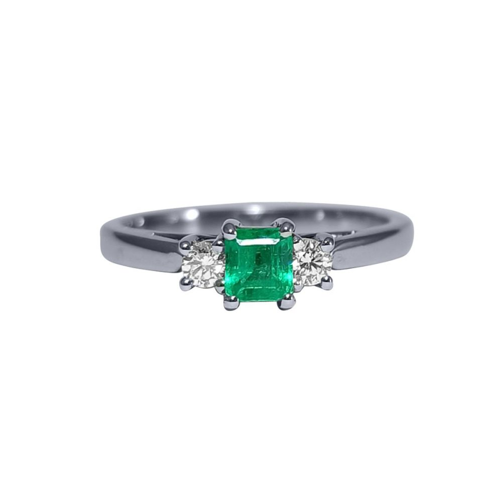 Emerald and Diamond Ring by JUPP