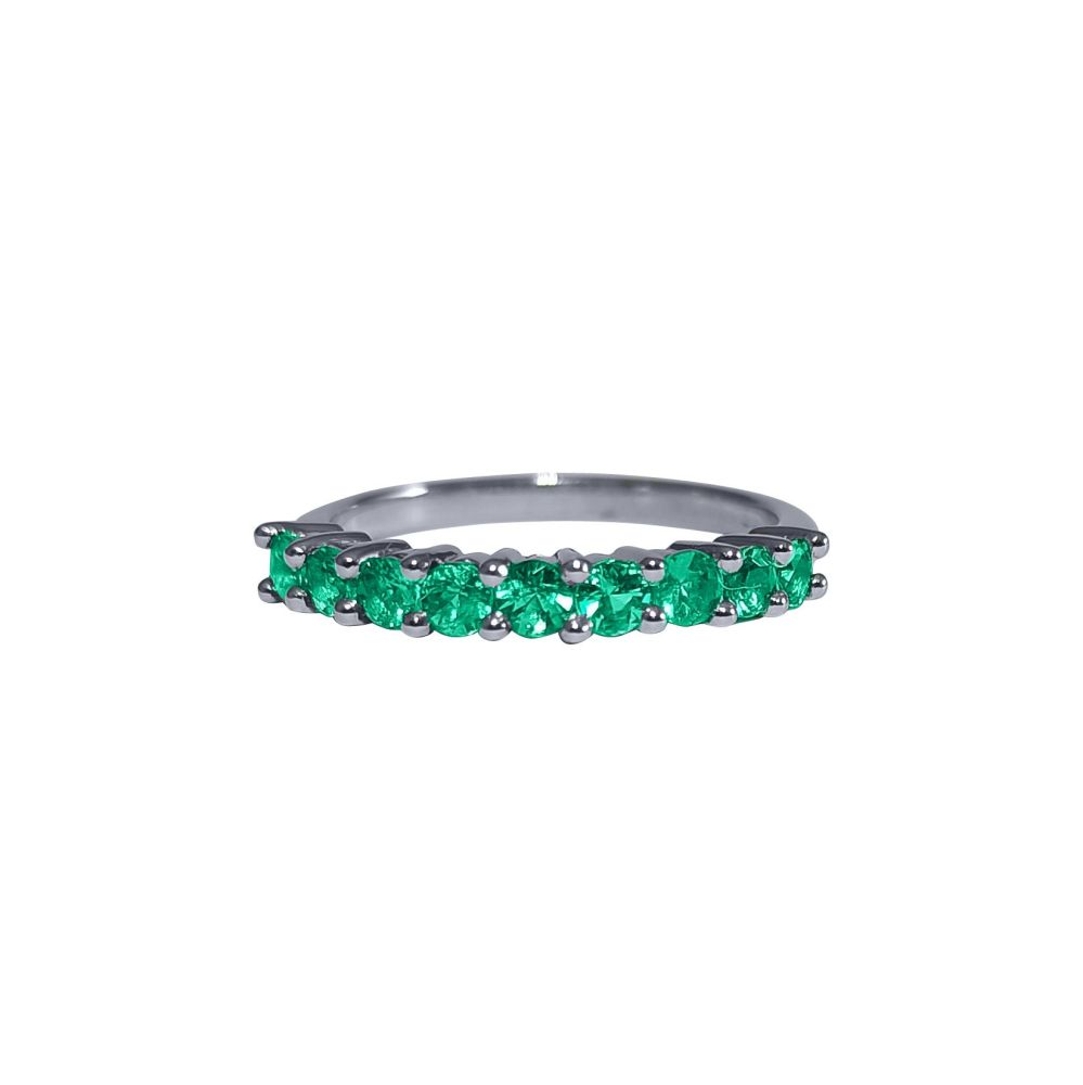 Emerald Half Eternity Ring by JUPP