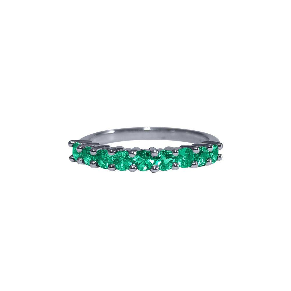 Emerald Half Eternity Ring by JUPP