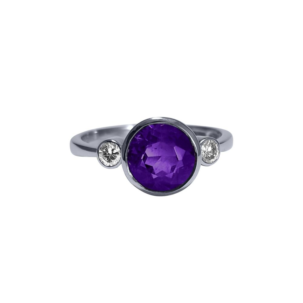 Amethyst and Diamond Ring by JUPP
