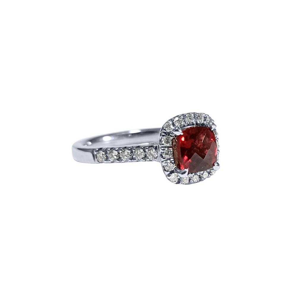 Garnet and Diamond Ring by JUPP