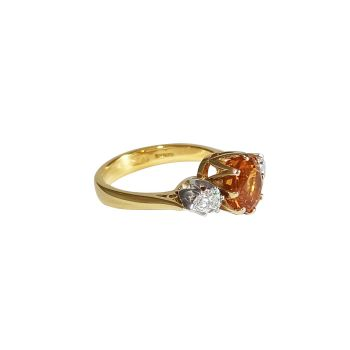 Yellow Sapphire and Diamond Ring by JUPP