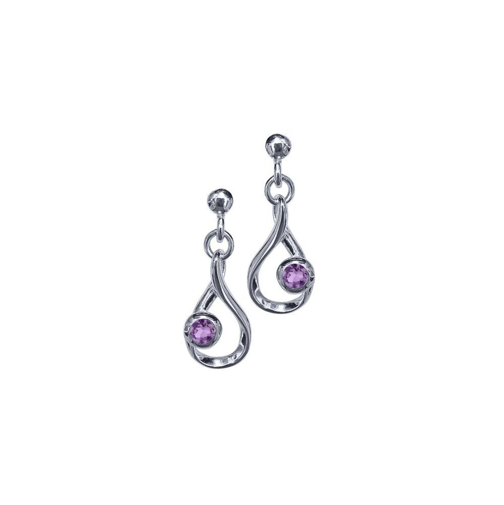 Amethyst Crescendo Earrings by JUPP