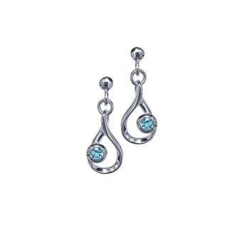 Blue Topaz Crescendo Earrings by JUPP