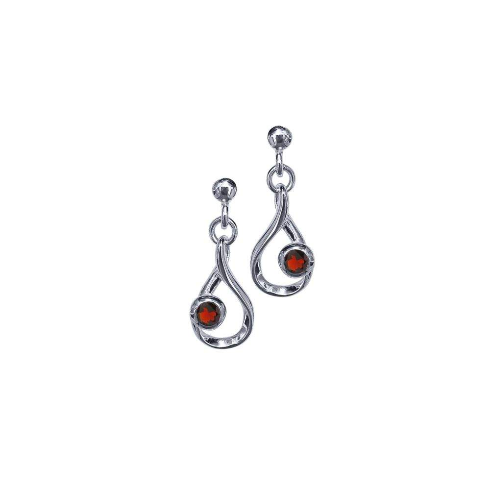 Garnet Crescendo Earrings by JUPP