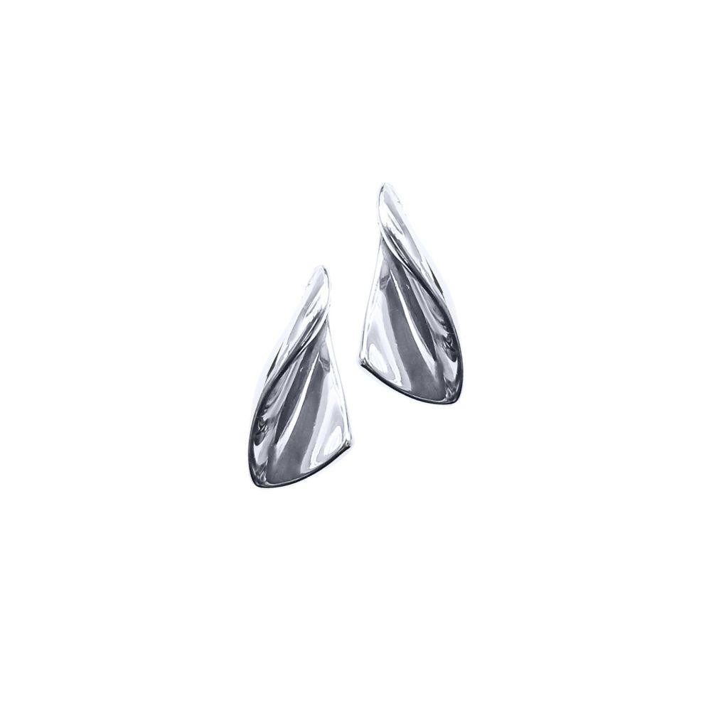 Triangle Twist Ear Studs by JUPP