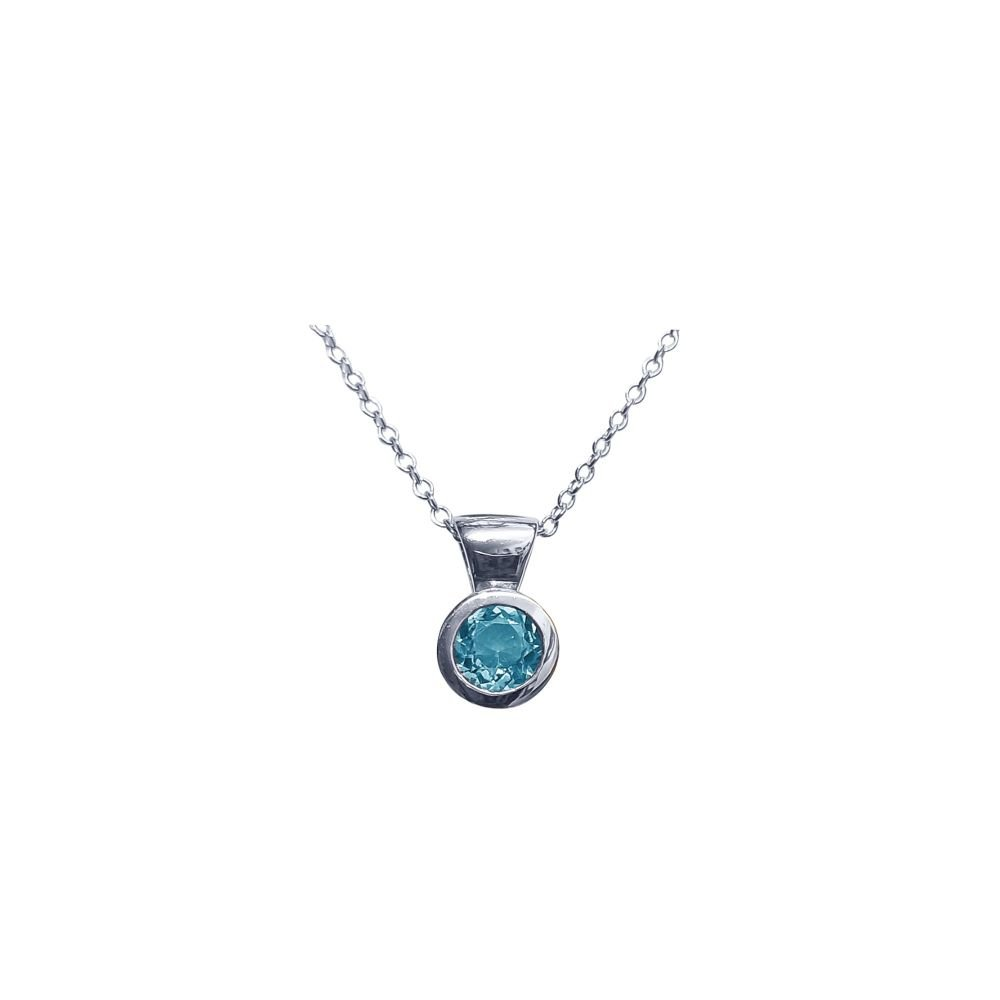 BLue Topaz Honesty Pendant by JUPP