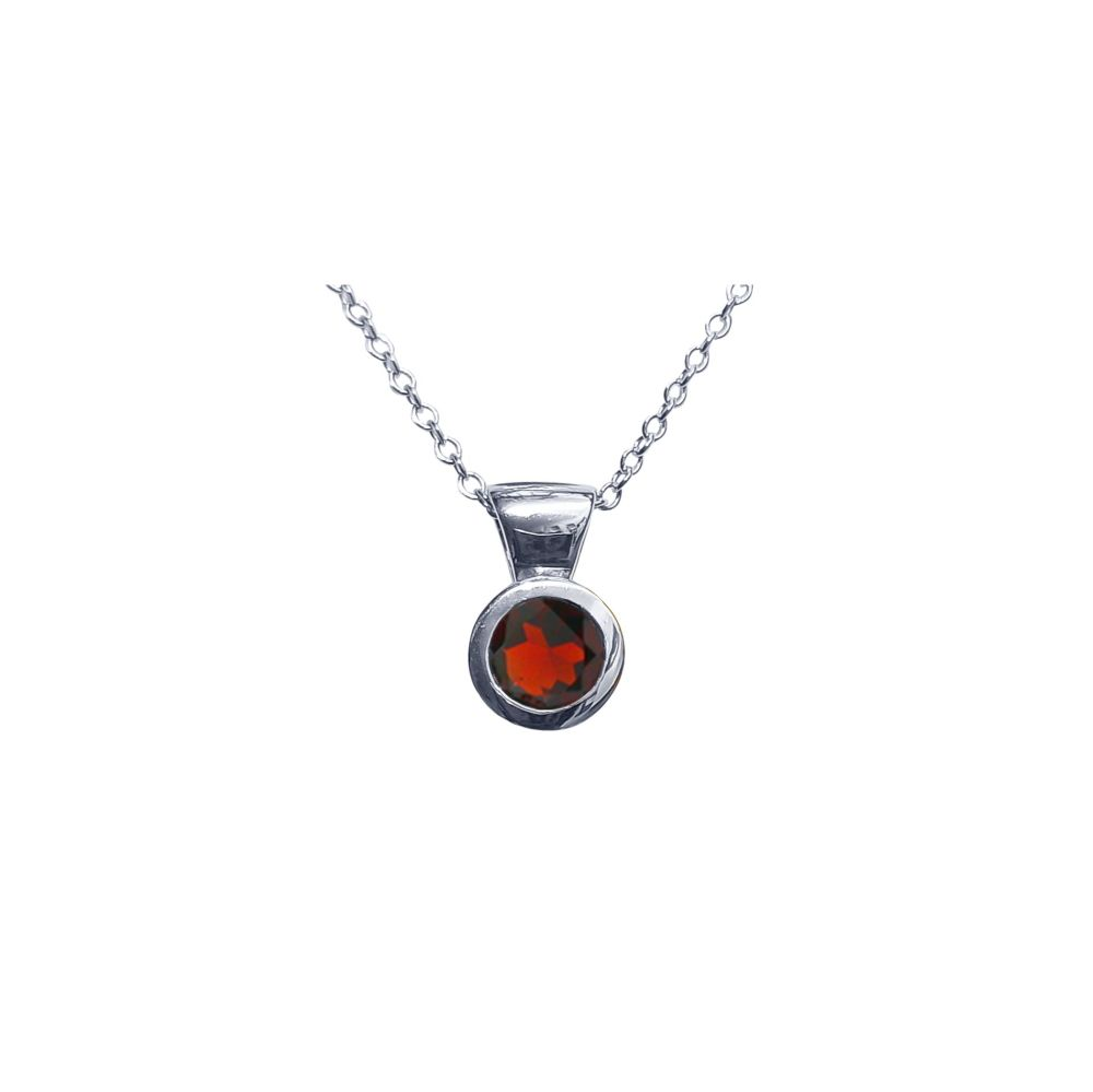 Garnet Honesty Pendant by JUPP