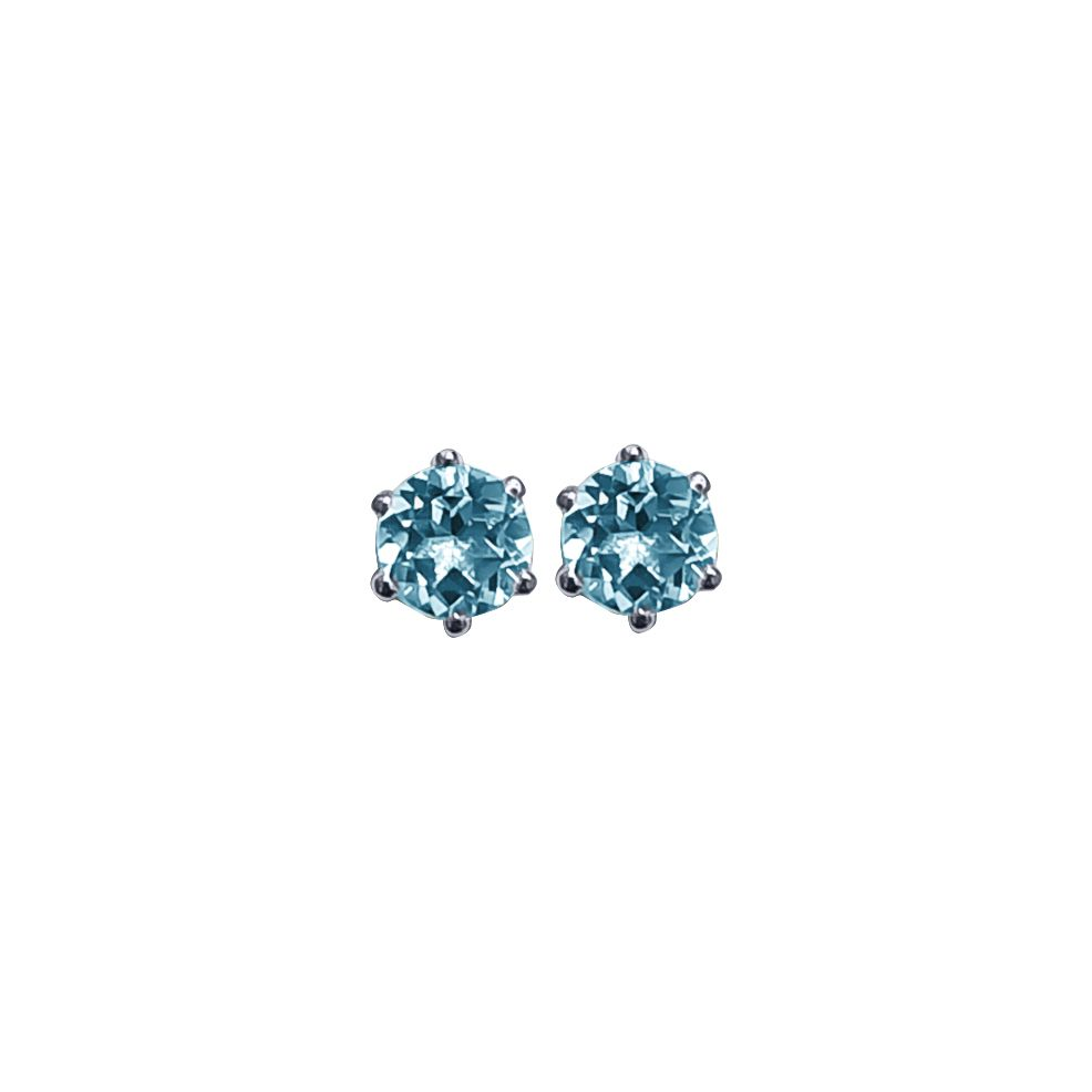 Blue Topaz Ear Studs by JUPP