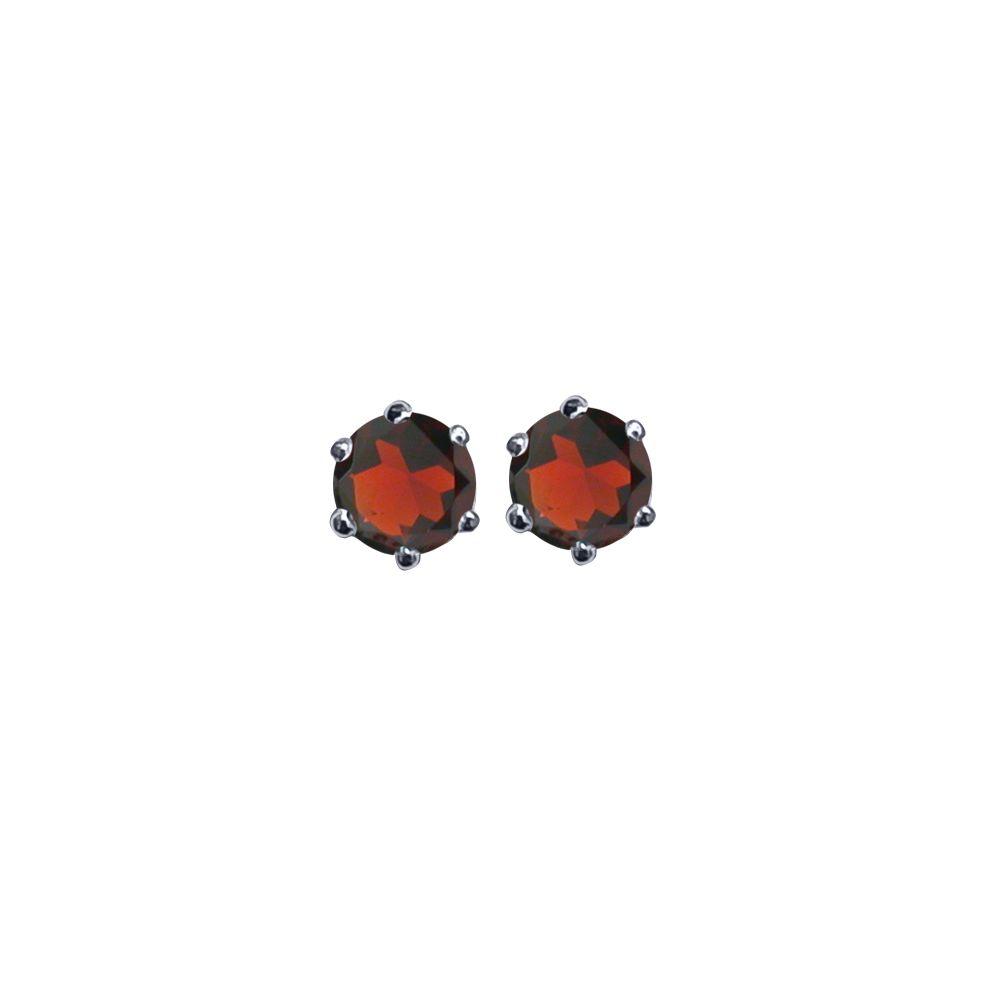 Garnet Ear Studs by JUPP
