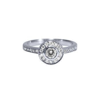 Diamond Halo Ring .54ct