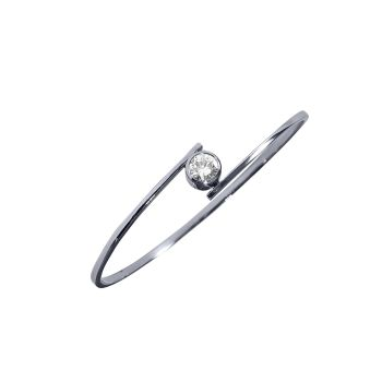 Diamond Crossover Bangle by JUPP