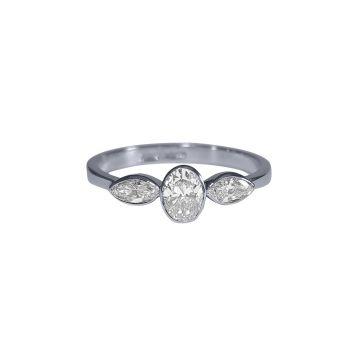 Diamond Three Stone Ring .64ct by JUPP