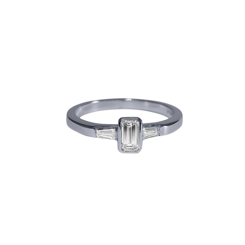 Emerald Cut Diamond Ring .47ct by JUPP