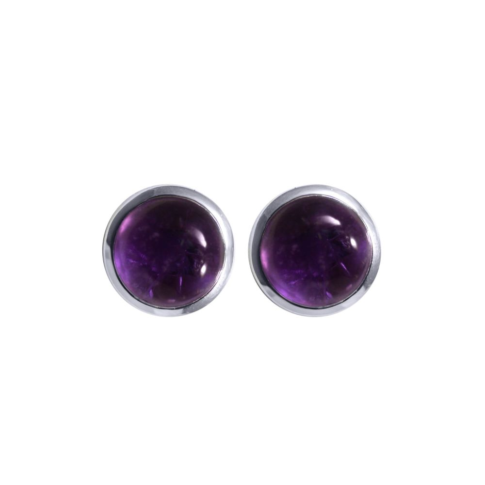 Amethyst Ear Studs by JUPP