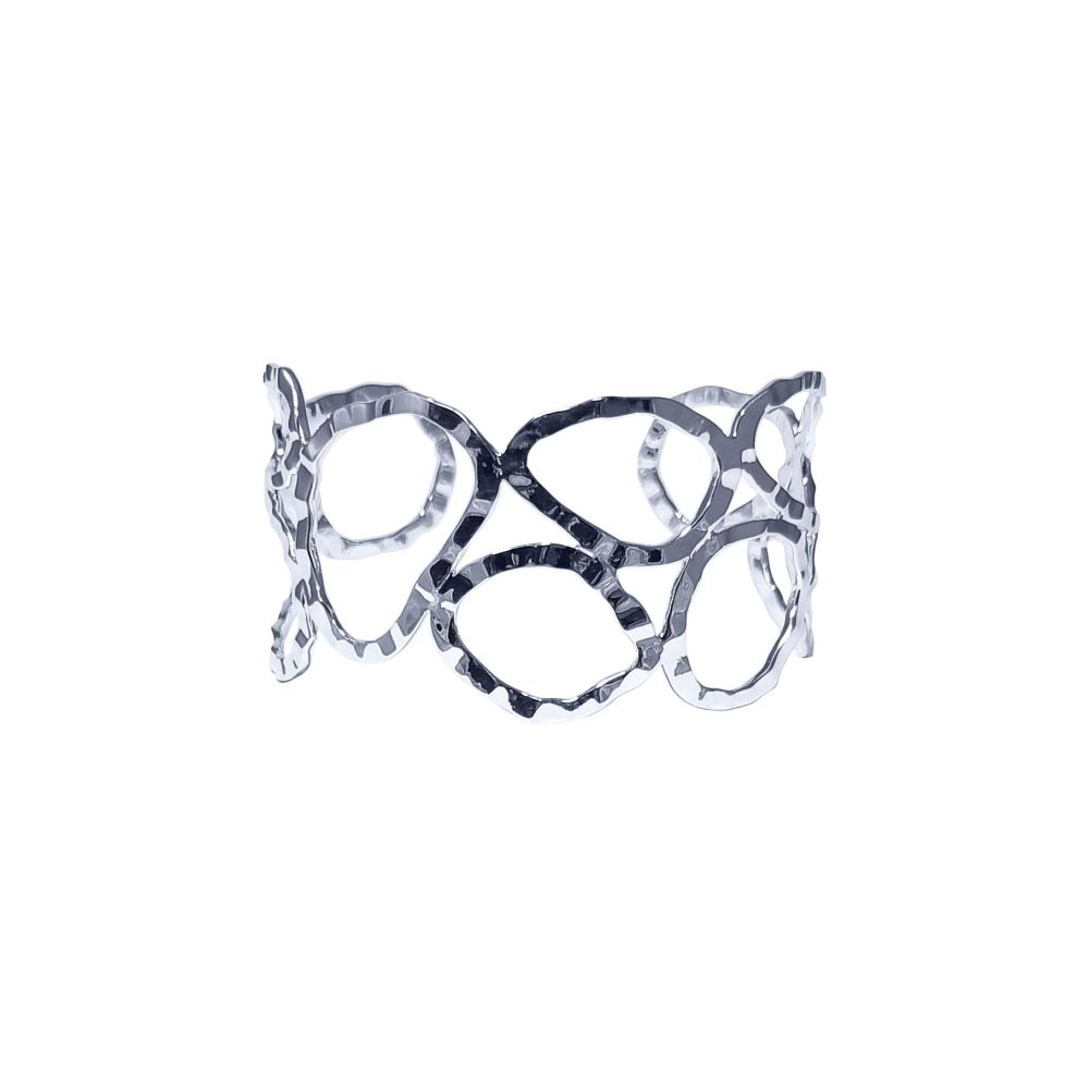 Silver Elements Torque Bangle by JUPP