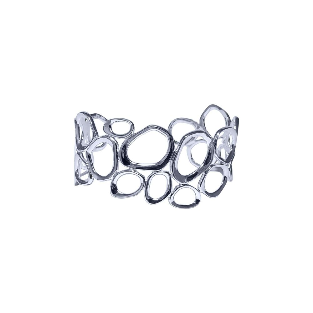 Silver Organics Torque Bangle by JUPP