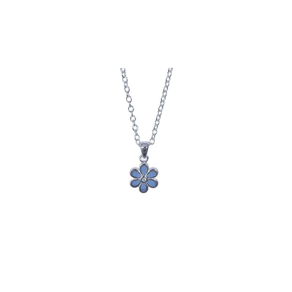 Cornflower Blue Flower Pendant by JUPP