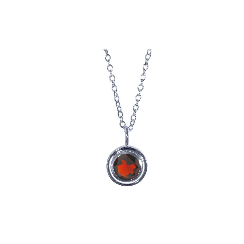 Garnet Saturn Pendant by JUPP