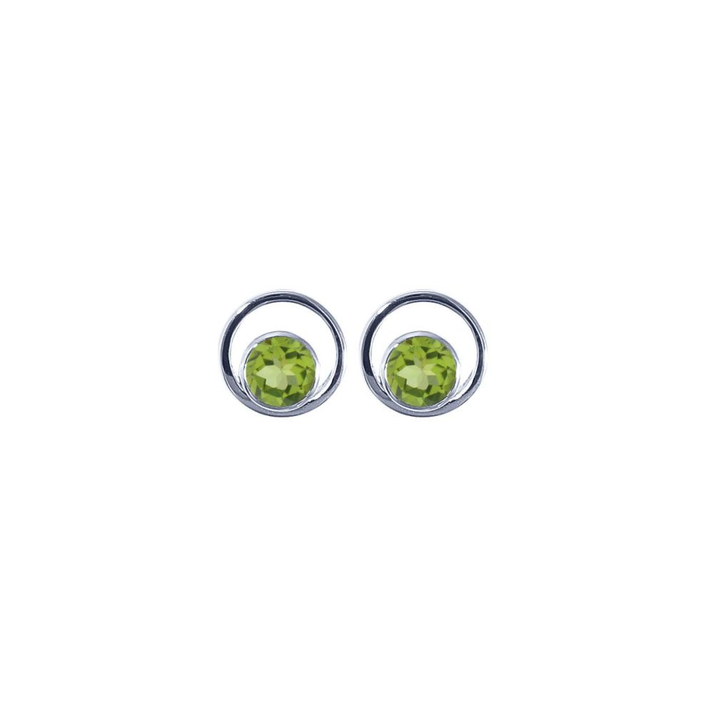 Peridot Saturn Ear Studs by JUPP