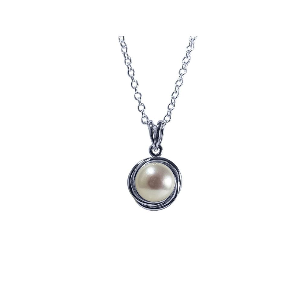 Pearl Pendant & Chain by JUPP