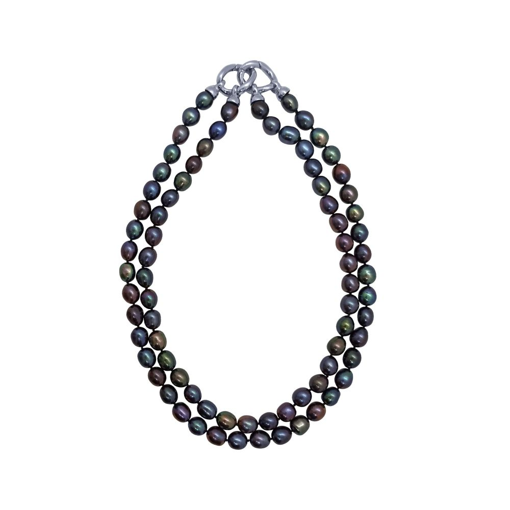 Peacock Pearl Myriad Necklace by JUPP