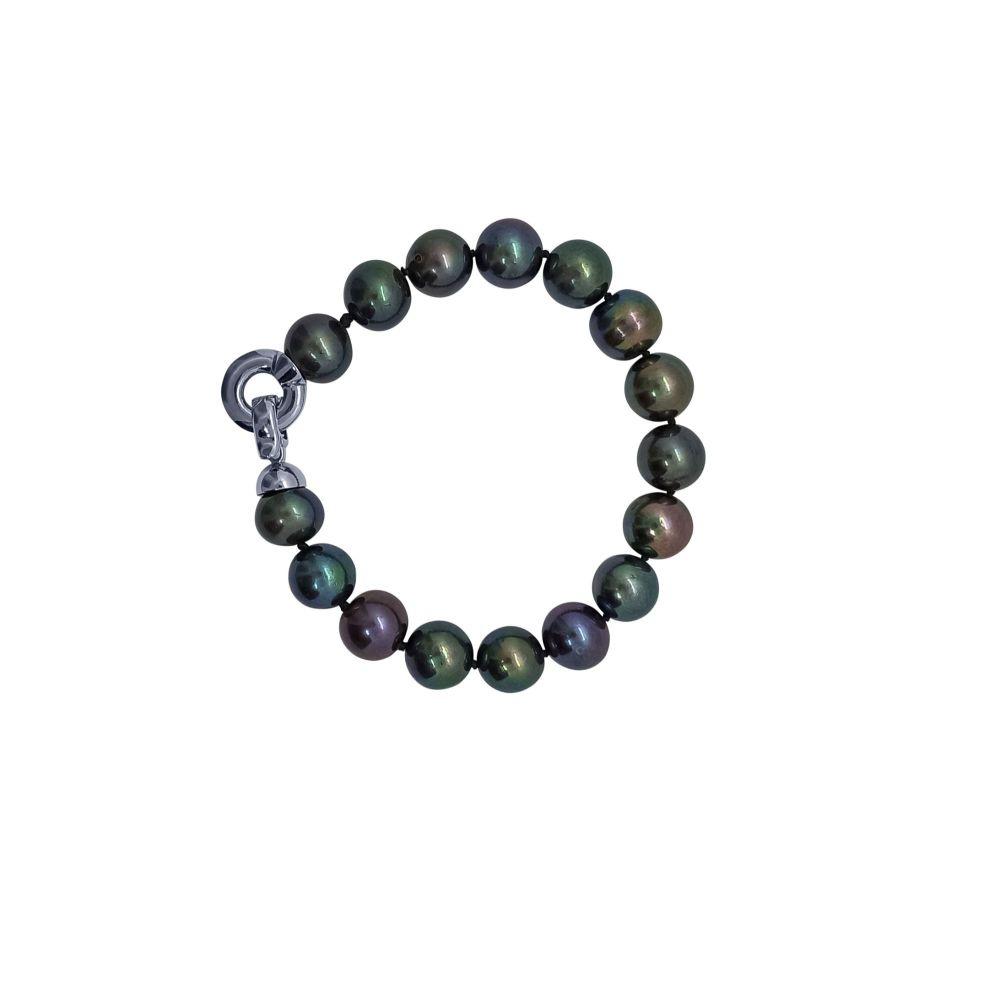Peacock Pearl Bracelet by JUPP