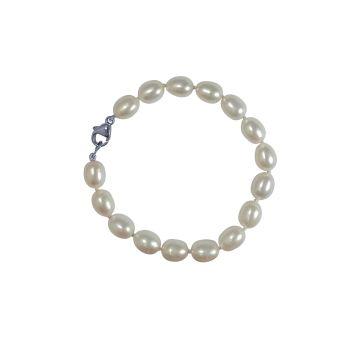 White Pearl Bracelet by JUPP