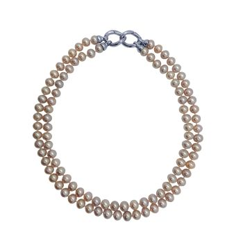 Pink Pearl Myriad Necklace by JUPP